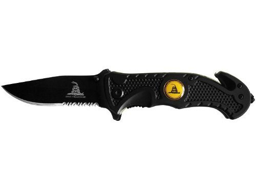 Don't Tread On Me MARINES Black Blade ASSISTED OPENING POCKET KNIFE