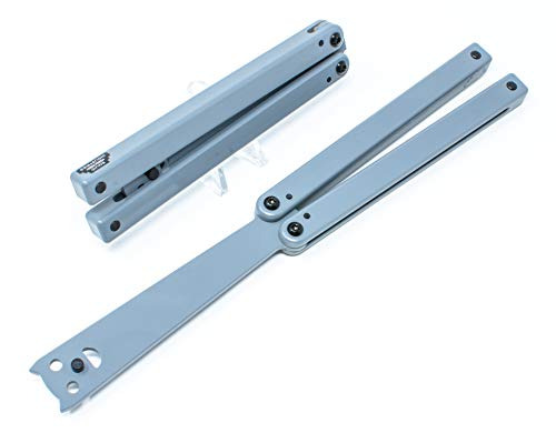 Squid Industries Squiddy-G Butterfly Gray Plastic Practice Balisong Dull Blade Knife Trainer