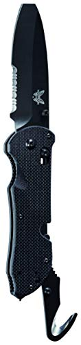 Benchmade - Triage 916SBK, Black Handle, Triple Utility Tool, Knife, Safety Hook and Glass Breaker, Made in the USA