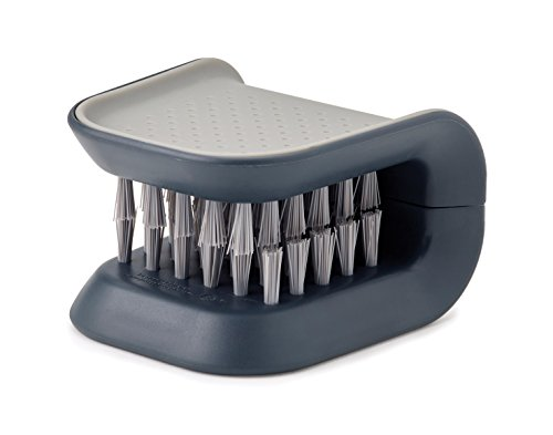 Joseph Joseph 85106 BladeBrush Knife and Cutlery Cleaner Brush Bristle Scrub Kitchen Washing Non-Slip, One Size, Gray