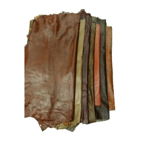 REED Leather HIDES - Whole Sheep Skin 7 to 10 SF - Various Colors (Antique Brown)