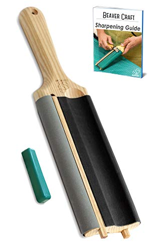 BeaverCraft Hook Knife SK2 Oak 1.2' Blade Wood Carving Spoon Knife for Bowl Cups Spoons Carving Right Handed Wood Carving Knife Curved Tools for Beginners