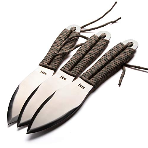 SOG Classic Throwing Knives Set with Sheath - Fling Balanced Throwing Knife Set w/ 2.8 Inch Steel Blades for Traditional Throwing Knives 3 Pk (FX41N-CP)
