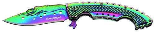 Boker 01LG318 Rainbow Mermaid Folding Knife with 440A Stainless Steel Blade, 3-1/4', Magnum