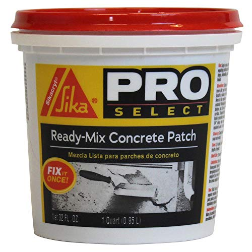Sikacryl Ready-Mix Concrete Patch, Gray. A ready to use, textured patch for reparings spalls and cracks in concrete and masonry, 1 Qt